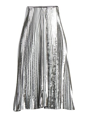 Balenciaga pleated metallic midi skirt