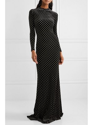 Balenciaga polka-dot stretch-velvet gown