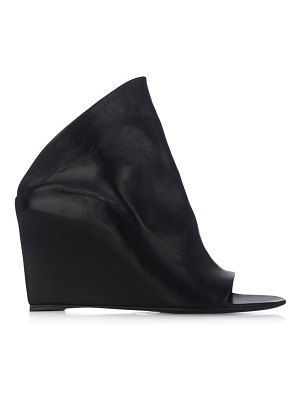 Balenciaga Prism leather wedge mules