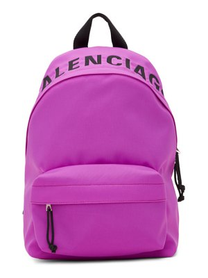 Balenciaga purple small wheel backpack
