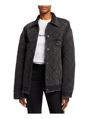 Balenciaga Quilted Japanese Denim Jacket