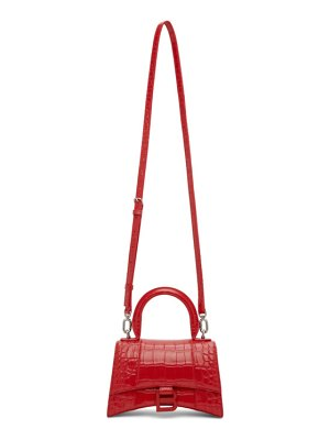 Balenciaga red croc xs hourglass bag