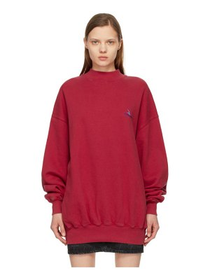 Balenciaga red embroidered logo sweatshirt
