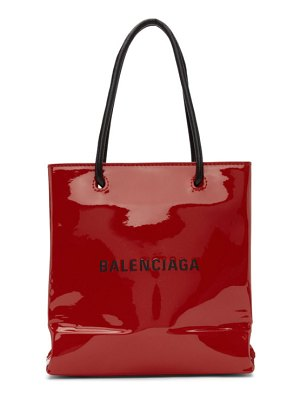 Balenciaga red patent everyday shopping tote