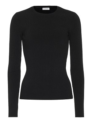 Balenciaga ribbed-knit top