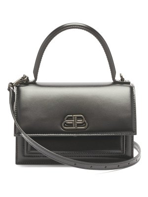Balenciaga sharp xs leather cross-body bag