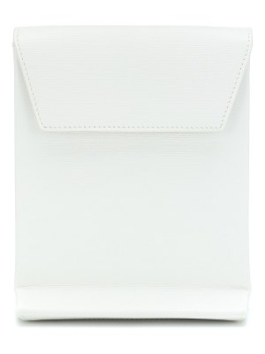 Balenciaga shopping envelope leather clutch