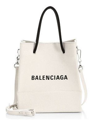 Balenciaga xxs logo leather shopper