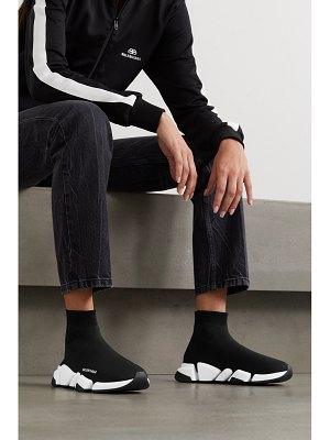 Balenciaga speed 2.0 logo-print stretch-knit high-top sneakers