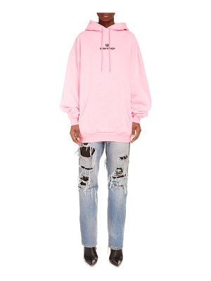 Balenciaga sponsor logo embroidered medium fit hoodie