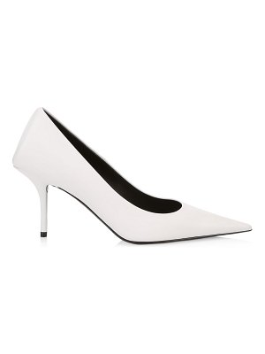 Balenciaga square knife point-toe stiletto leather pumps