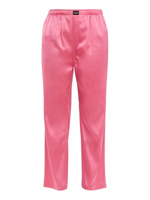 Balenciaga straight leg satin trousers