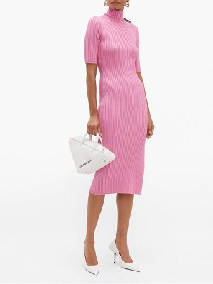 Balenciaga stretch knit high neck dress