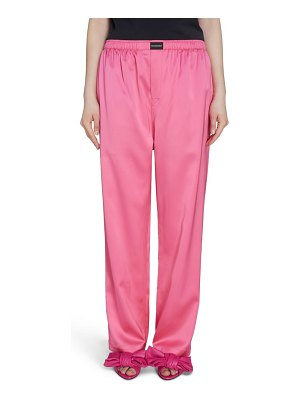Balenciaga stretch satin pants