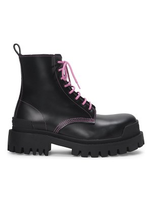 Balenciaga strike leather combat boots
