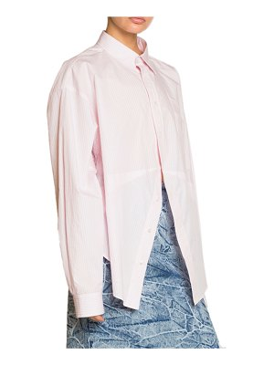 Balenciaga Striped Poplin Masculine Button-Front Blouse