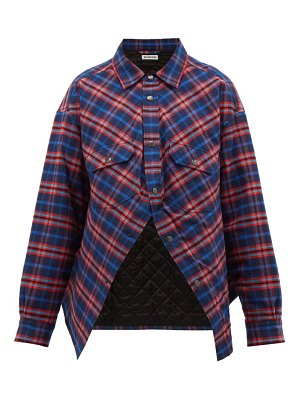 Balenciaga swing canadian checked cotton flannel shirt