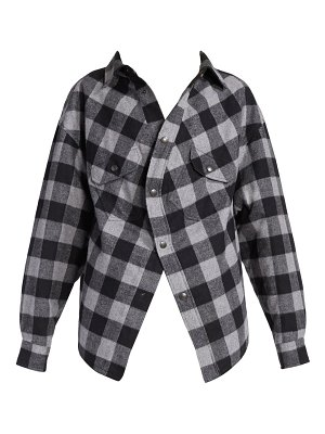 Balenciaga swing canadian plaid shirt