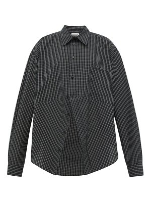 Balenciaga swing checked cotton poplin shirt