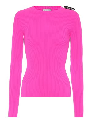 Balenciaga technical ribbed-knit top