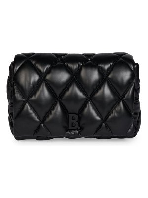 Balenciaga touch quilted leather clutch
