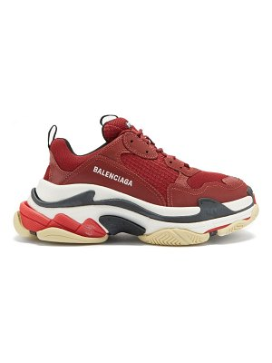 Balenciaga triple s leather and mesh trainers