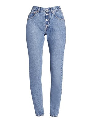 Balenciaga tube exposed button-fly jeans