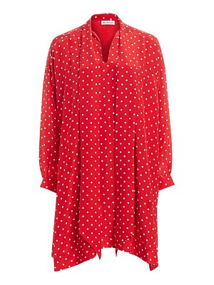 Balenciaga vareuse polka dot silk shift dress