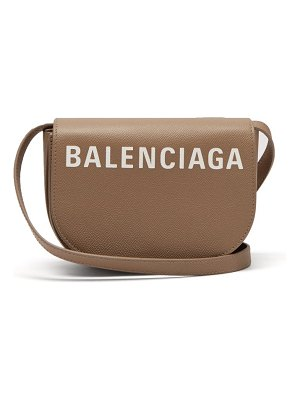 Balenciaga ville logo leather cross body bag