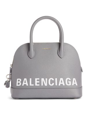 Balenciaga ville logo leather dome satchel