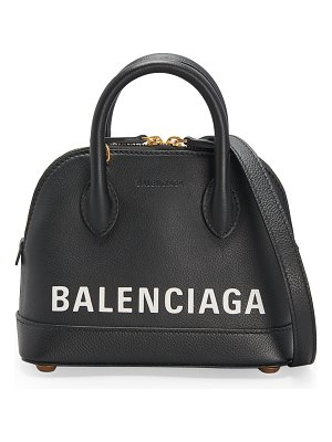 Balenciaga Ville XXS Logo Pebbled Leather Top-Handle Bag