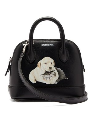 Balenciaga ville xxs puppy print leather bag
