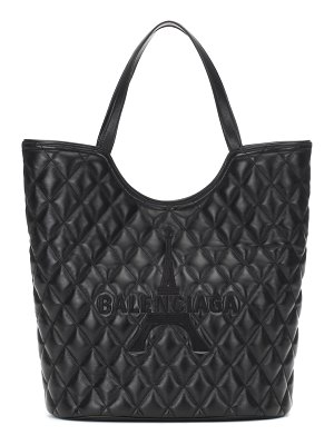 Balenciaga wave quilted leather tote
