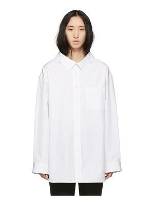 Balenciaga white swing collar shirt