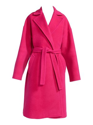 Balenciaga wrapped wool-blend trench coat