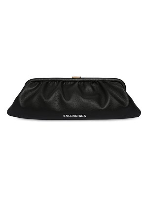 Balenciaga Xl cloud leather clutch