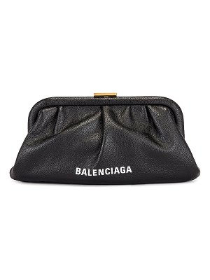 Balenciaga xs cloud clutch with strap