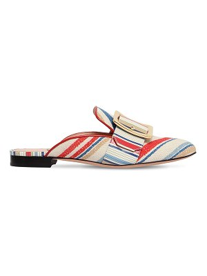 Bally 10mm janesse 30 cotton canvas mules