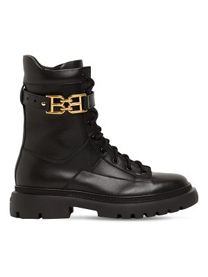 Bally 30mm gioele leather combat boots