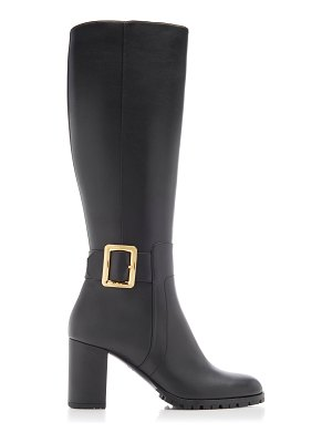 Bally buckled leather knee boots size: 36