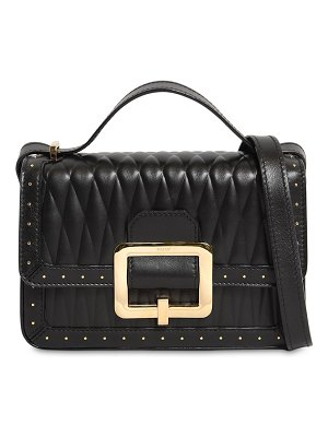 Bally Janelle quilted leather bag w/microstuds