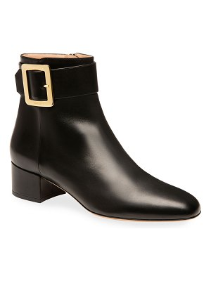 Bally Jay Smooth Buckle Ankle Booties