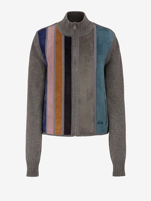 Bally Striped Suede Wool Sweater