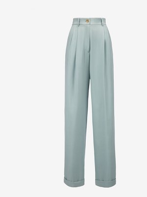 Bally Washed Silk Wide Leg Trousers