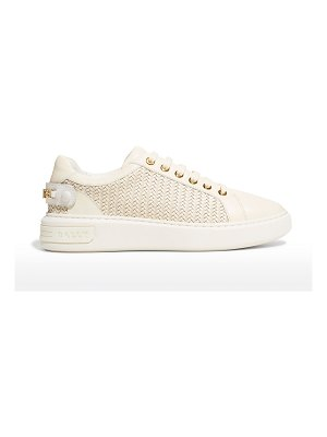 Bally Woven B Chain Low-Top Sneakers