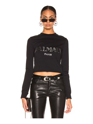 Balmain 3D Crop Top