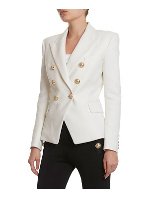 Balmain 6-Button Double-Breasted Viscose Blazer