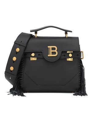 Balmain b-buzz 23 fringed leather tote
