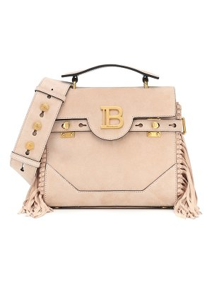 Balmain b-buzz 23 fringed suede tote