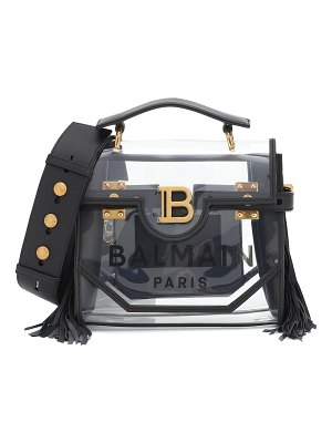 Balmain b-buzz 23 pvc and leather tote